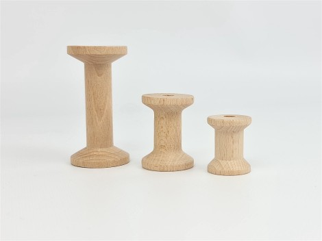 Carretes de madera 3 medidas Ref.CCDV41