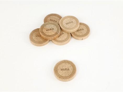 Wooden Maria biscuit Ø5.5 cm. Ref.CCGA01