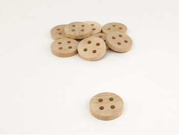 Wooden button to play Ø5.5 cm. Ref. CCBO01