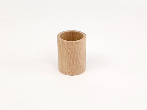 Cubilete pequeño de madera Ø5x6 cm.Ref.CCJD107