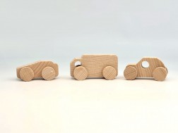 Set 3 Coches de madera minis Ref.CCJD81