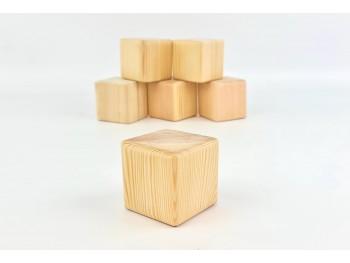 Cubos de madera natural 7x7 cm. Ref.W295