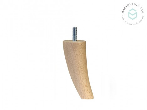 Turned and curved leg L13 cm. Ref.ST16130