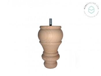 Wood leg turned beech 12.5xØ7.5 cm. Ref.ST98