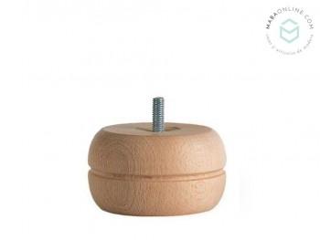 Pata redonda plana para sofá L5 cm. Ref.ST88