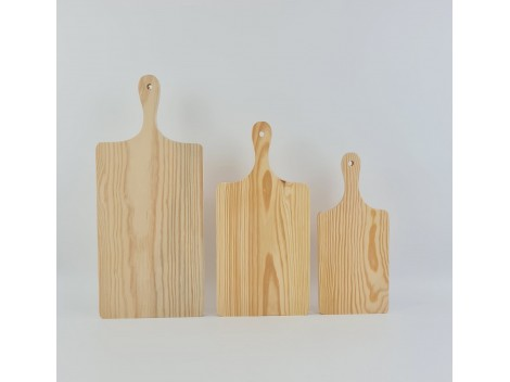 Wooden cutting board with handle various measures Ref.AR01374