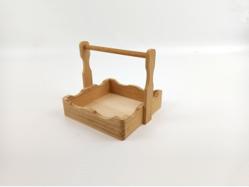 Wooden napkin holder with handle Ref. 1160