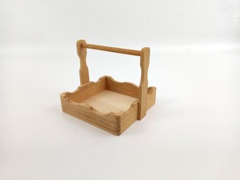 Servilletero de madera c/asa Ref.1160