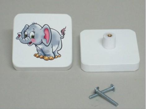 Tirador infantil Cuadrado Elefante / 8 unds.