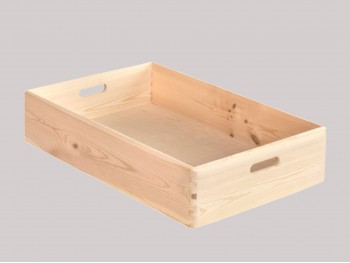 Caja Bandeja pino con asas 60x40x14 cm. Ref.A2019