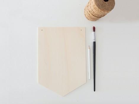 Banderines de madera para pintar o decorar Ref.PP2