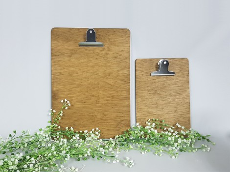 Carta Menú de madera con pinza Ref.H33