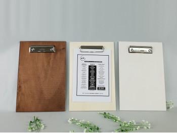 Carta Menú de madera ClipBoard DIN A5 Ref.H34