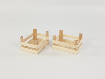 Cesta de madera pequeña 10x8x6 cm. Ref.CR3