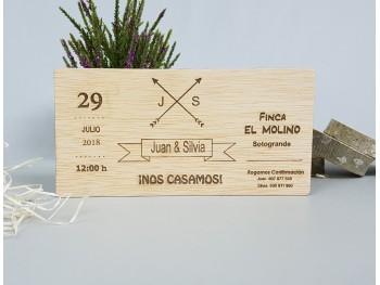 Invitaciones de madera MOD.1H