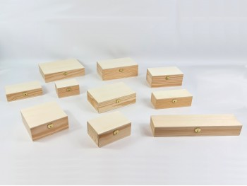 Caja con bisagra y broche diferentes medidas