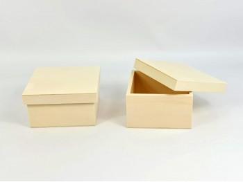 Caja de chopo Cuadrada 16,5x16,5x9 cm. con tapa Ref.PC22