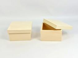Box of poplar Square 20x20x10 cm. with lid Ref.P00C20