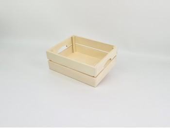 Fruit basket box 25x20x9.5 cm. with handles Ref.AR16532
