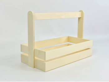 Basket box 36.5x18x25 cm. with high handle Ref.PCR4