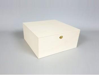 Caja 33x33x15 cm. c/ bisagra y broche Ref.