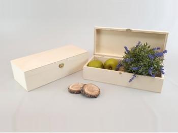 Caja de madera 32x14x9 cm. c/ bisagra y broche Ref.C6MF