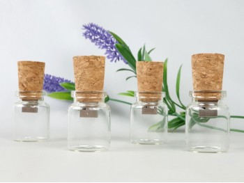 Pendrive mini botella de cristal y corcho Ref.USBCH4