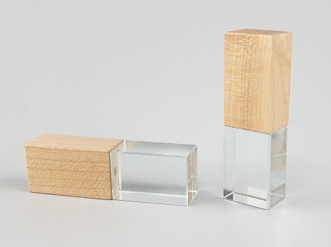 PenDrive de cristal y madera Ref.USBCH5