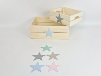 Basket box with handles 2 sizes Ref.AR1653
