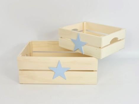Caja cesta con asas Estrella color Ref.AR1653E