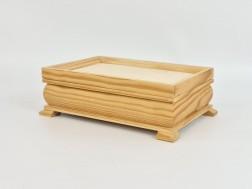Caja pino con forma y patitas Ref.1168