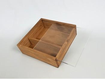 Caja envejecida fotos 10x15 c/tapa Metácrilato Ref.P00CF13BM