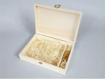 Caja de madera 26x19x6 cm. c/broche y división Ref.P1454C6F