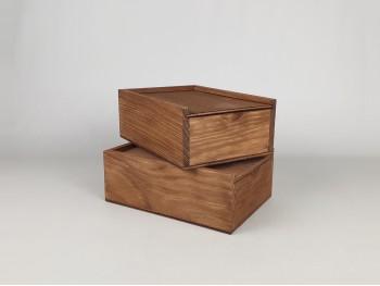Caja de madera pino Envejecida 17,5x12,5x6,5 c/Tapa corredera Ref.PF1015T