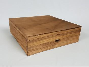 Caja envejecida con cajón y div. Ref.P1454C9B1