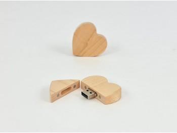 PenDrive de madera Corazón con imán Ref.USBCH6
