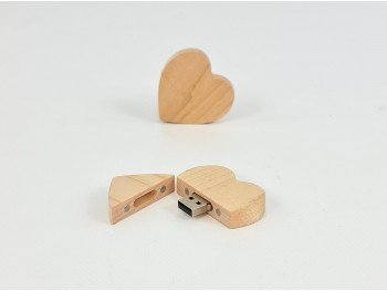 Wooden Heart PenDrive with magnet Ref.USBCH6