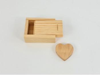 Pack PenDrive Corazón + Caja Natural P1002
