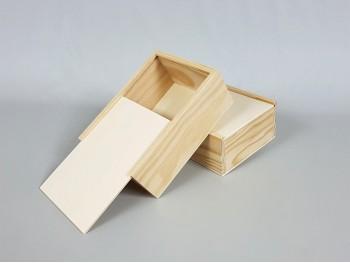 Pine wood box 18.5x14x7.5 w / Sliding lid Ref.PF1015
