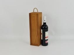Caja 1 Botella de vino Tapa Corredera color Miel Ref.P1251CC