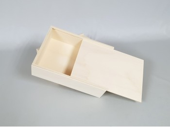 Wooden box 25x19x6 cm. with Sliding cover Ref.P1454C4N