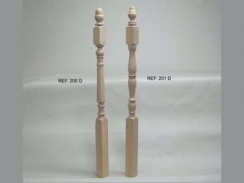 Newel post 7 x 7 cm.