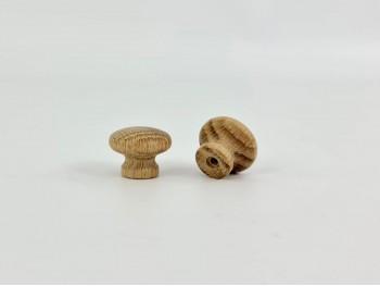 Tirador pomo roble Ø2,5 cm. c/tuerca Ref.7R