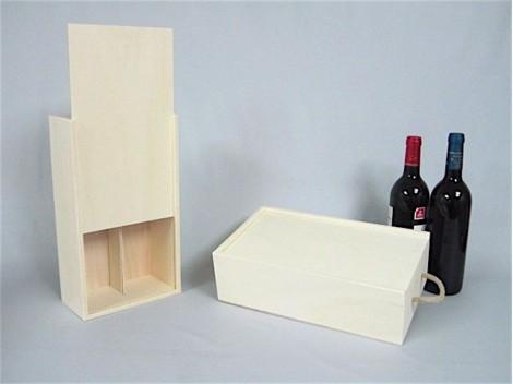 Cajas de madera para vino 2 Botellas