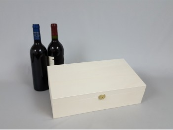Caja 2 Botellas de vino Bisagra y Broche