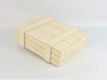 Caja de madera Tipo Embalaje 35x27x10 cm. c/Tapa clavada Ref.P10N