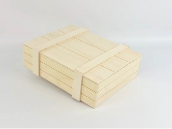 Wooden box Type Packaging 22x12x12 cm. c / Nailed lid Ref.P10N