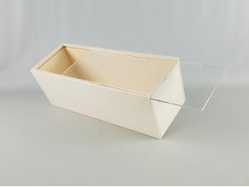 Caja de 37x12x12 cm. con Tapa Metacrilato Ref.PC6AM