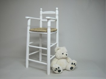 High chair white bulrush seat REF.1272B