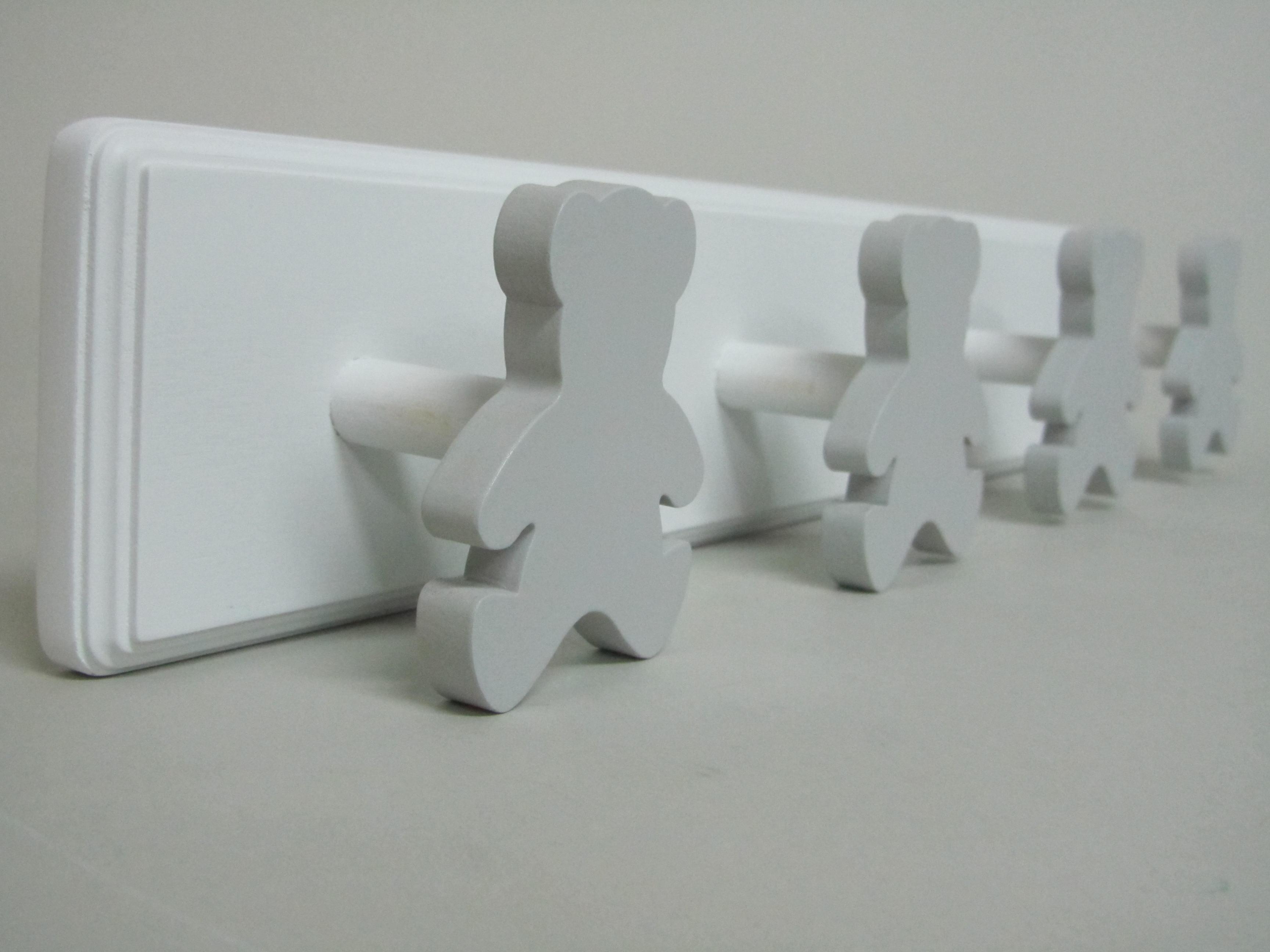 Perchero pared osos gris mabaonline - Percheros pared infantiles ...